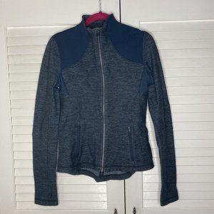 NICE Lululemon Blue Slub Denim Forme Jacket Size 8